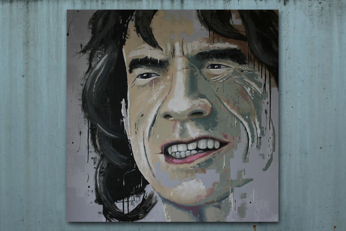 Porträt Acryl Mick Jagger